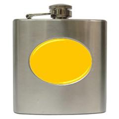Amber Solid Color  Hip Flask (6 Oz) by SimplyColor