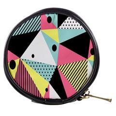 Geometric Polka Triangle Dots Line Mini Makeup Bags by Mariart
