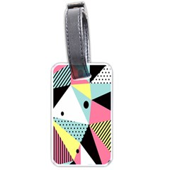 Geometric Polka Triangle Dots Line Luggage Tags (two Sides) by Mariart