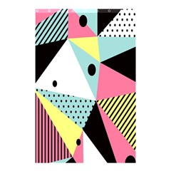 Geometric Polka Triangle Dots Line Shower Curtain 48  X 72  (small)  by Mariart