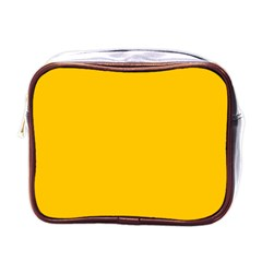 Amber Solid Color  Mini Toiletries Bags by SimplyColor