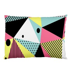 Geometric Polka Triangle Dots Line Pillow Case (two Sides) by Mariart