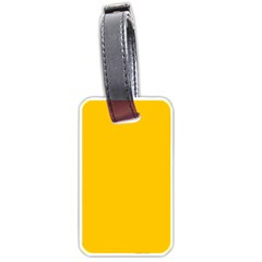 Amber Solid Color  Luggage Tags (two Sides) by SimplyColor