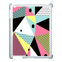 Geometric Polka Triangle Dots Line Apple Ipad 3/4 Case (white) by Mariart