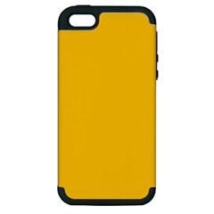 Amber Solid Color  Apple Iphone 5 Hardshell Case (pc+silicone) by SimplyColor