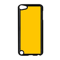 Amber Solid Color  Apple Ipod Touch 5 Case (black) by SimplyColor