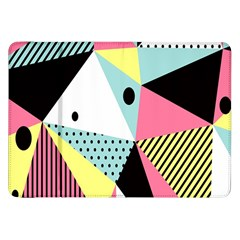Geometric Polka Triangle Dots Line Samsung Galaxy Tab 8 9  P7300 Flip Case by Mariart