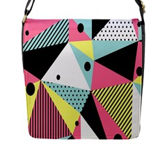 Geometric Polka Triangle Dots Line Flap Messenger Bag (l)  by Mariart