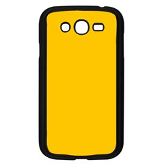 Amber Solid Color  Samsung Galaxy Grand Duos I9082 Case (black) by SimplyColor