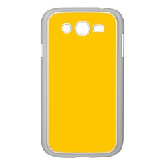 Amber Solid Color  Samsung Galaxy Grand Duos I9082 Case (white) by SimplyColor