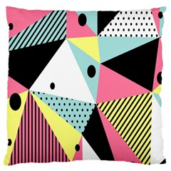 Geometric Polka Triangle Dots Line Large Flano Cushion Case (one Side) by Mariart