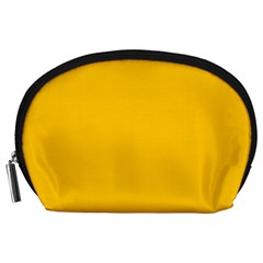 Amber Solid Color  Accessory Pouches (large)  by SimplyColor