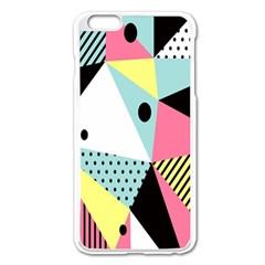 Geometric Polka Triangle Dots Line Apple Iphone 6 Plus/6s Plus Enamel White Case by Mariart