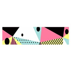 Geometric Polka Triangle Dots Line Satin Scarf (oblong) by Mariart