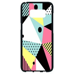 Geometric Polka Triangle Dots Line Samsung Galaxy S8 Black Seamless Case by Mariart