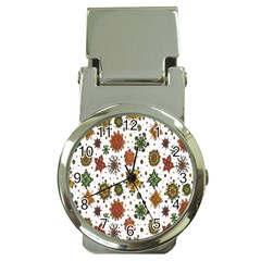Flower Floral Sunflower Rose Pattern Base Money Clip Watches by Mariart