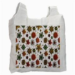Flower Floral Sunflower Rose Pattern Base Recycle Bag (two Side)  by Mariart
