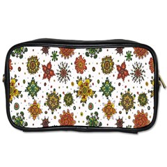 Flower Floral Sunflower Rose Pattern Base Toiletries Bags by Mariart