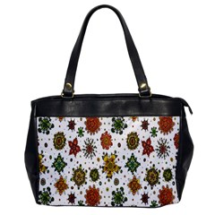 Flower Floral Sunflower Rose Pattern Base Office Handbags by Mariart