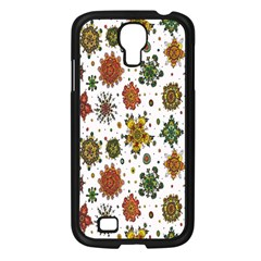 Flower Floral Sunflower Rose Pattern Base Samsung Galaxy S4 I9500/ I9505 Case (black) by Mariart