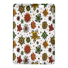Flower Floral Sunflower Rose Pattern Base Kindle Fire Hdx 8 9  Hardshell Case by Mariart