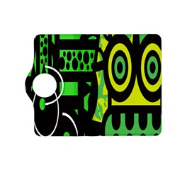 Half Grower Banner Polka Dots Circle Plaid Green Black Yellow Kindle Fire Hd (2013) Flip 360 Case by Mariart