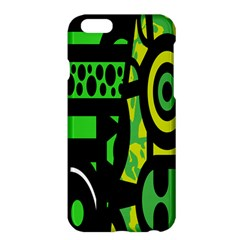 Half Grower Banner Polka Dots Circle Plaid Green Black Yellow Apple Iphone 6 Plus/6s Plus Hardshell Case by Mariart