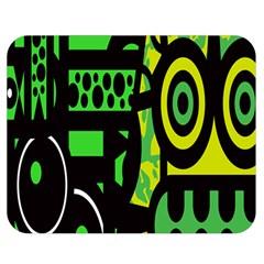 Half Grower Banner Polka Dots Circle Plaid Green Black Yellow Double Sided Flano Blanket (medium)  by Mariart