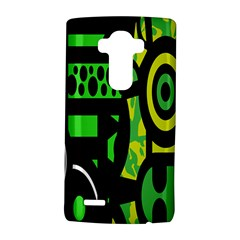 Half Grower Banner Polka Dots Circle Plaid Green Black Yellow Lg G4 Hardshell Case by Mariart