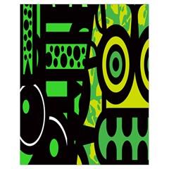 Half Grower Banner Polka Dots Circle Plaid Green Black Yellow Drawstring Bag (small) by Mariart