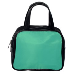 Aquamarine Solid Color  Classic Handbags (one Side) by SimplyColor