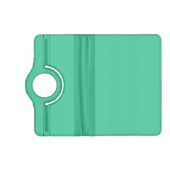 Aquamarine Solid Color  Kindle Fire Hd (2013) Flip 360 Case by SimplyColor
