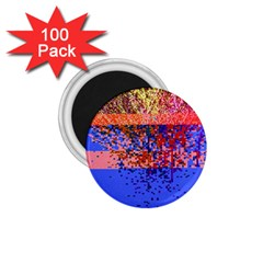Glitchdrips Shadow Color Fire 1 75  Magnets (100 Pack)  by Mariart