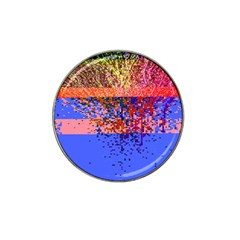 Glitchdrips Shadow Color Fire Hat Clip Ball Marker by Mariart