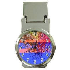 Glitchdrips Shadow Color Fire Money Clip Watches by Mariart