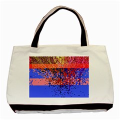 Glitchdrips Shadow Color Fire Basic Tote Bag by Mariart