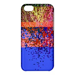Glitchdrips Shadow Color Fire Apple Iphone 5c Hardshell Case by Mariart