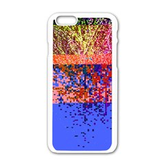 Glitchdrips Shadow Color Fire Apple Iphone 6/6s White Enamel Case by Mariart
