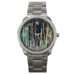 Heimbold Sign Random Shadow Line Vertical Light Sport Metal Watch by Mariart