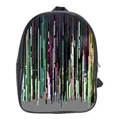 Heimbold Sign Random Shadow Line Vertical Light School Bags (xl)  by Mariart