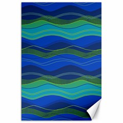 Geometric Line Wave Chevron Waves Novelty Canvas 20  X 30   by Mariart