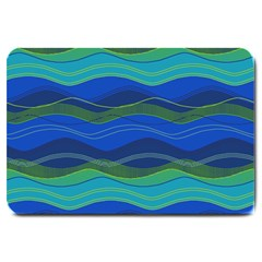 Geometric Line Wave Chevron Waves Novelty Large Doormat  by Mariart