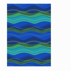 Geometric Line Wave Chevron Waves Novelty Large Garden Flag (two Sides) by Mariart