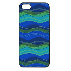 Geometric Line Wave Chevron Waves Novelty Apple Iphone 5 Seamless Case (black) by Mariart