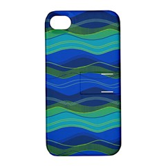 Geometric Line Wave Chevron Waves Novelty Apple Iphone 4/4s Hardshell Case With Stand by Mariart