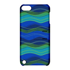 Geometric Line Wave Chevron Waves Novelty Apple Ipod Touch 5 Hardshell Case With Stand by Mariart