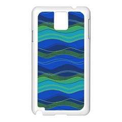 Geometric Line Wave Chevron Waves Novelty Samsung Galaxy Note 3 N9005 Case (white) by Mariart