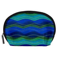 Geometric Line Wave Chevron Waves Novelty Accessory Pouches (large)  by Mariart