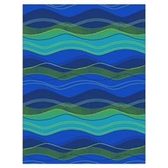 Geometric Line Wave Chevron Waves Novelty Drawstring Bag (large) by Mariart