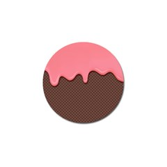 Ice Cream Pink Choholate Plaid Chevron Golf Ball Marker (4 Pack) by Mariart